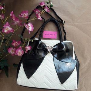 NWT Betsey Johnson Oversized Bow Satchel Hand Bag